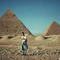 Thomas at the Great Pyramids