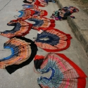 Flower Hmong Skirts Drying in Bac Ha