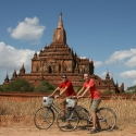 Thomas and Tony Biking in Bagan