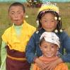 Tibetan Children near Tagong in Sichuan, China