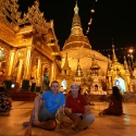 TnT at the Shwe Dagon Pagoda