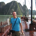 Tony in Halong Bay