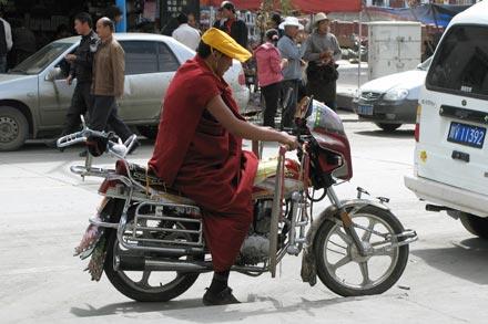 Monk on Motorcycle