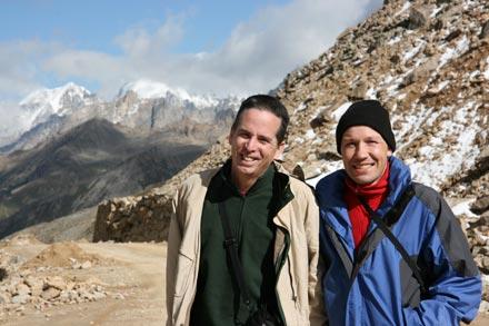 Tony and Thomas on Chola pass at 5050 m (16,600 feet)