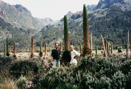 Tony and Thomas in the Ruwenzori Mountains, 1994