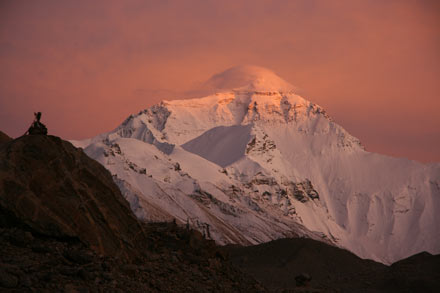 Mt. Everest in the Sunset