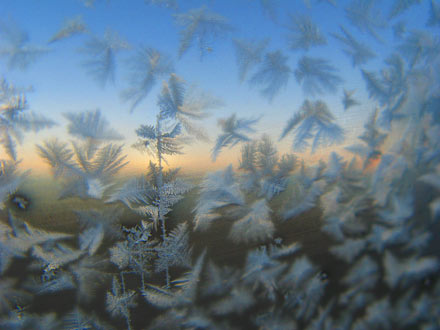 Ice Crystals on the Car Window, Tibet