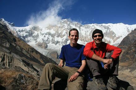 Tony and Thomas infront of Annapurna 1