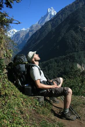 Thomas Relaxes on Sanctuary Trail