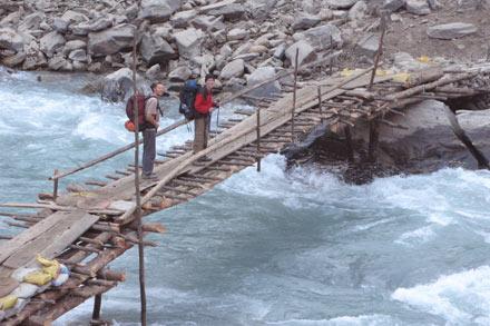 Crossing Rickety Bridge