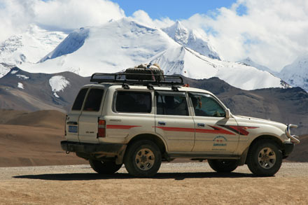 Our Car in Tibet
