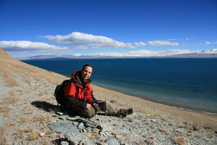Tony at the Shores of Lake Manasarovar