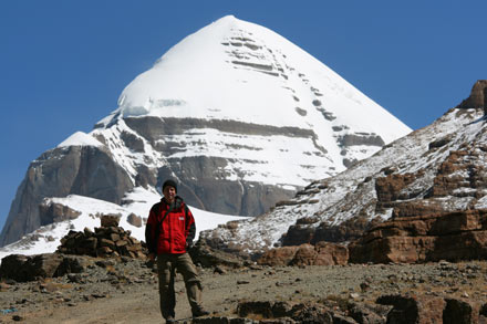 Tony in Front of Mt. Kailash