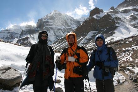 Irina, Dimitri and Thomas on the Mt. Kailash Kora