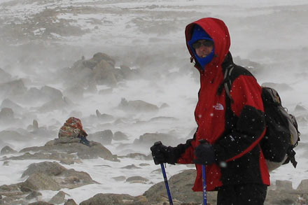 Tony Hiking up Mt. Kailash