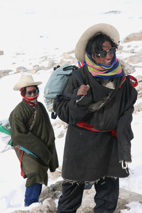 Pilgrims on Mount Kailash