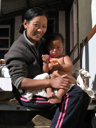 Sherpa Woman with Daughter