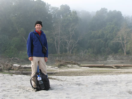 Thomas on the Banks of the Rapti River, Chitwan National Park