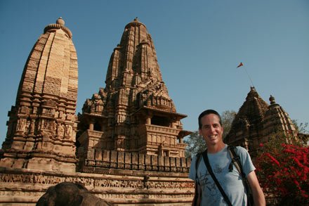 Tony in Khajuraho