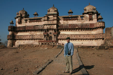 Thomas in Front of Palace, Orchha