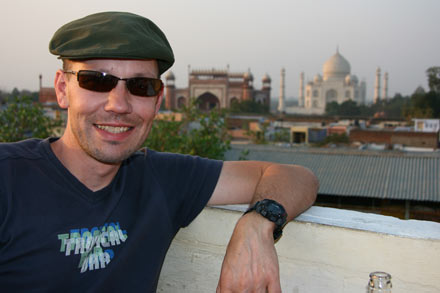Thomas in Agra