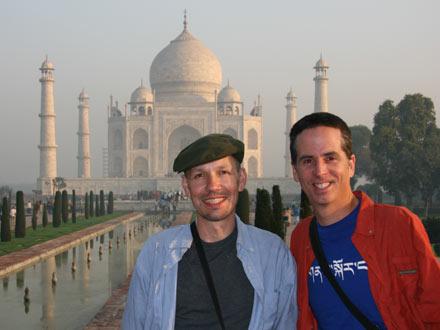Tony and Thomas at Taj Mahal