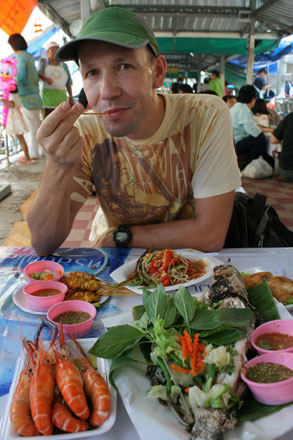 Thomas at Taling Chan Floating Market