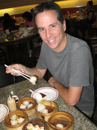 Tony Eating Dim Sum