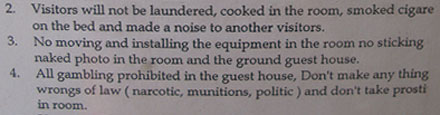 Strange Hotel Regulations