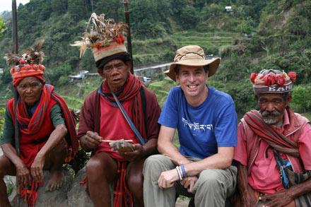Tony with Ifugao Men