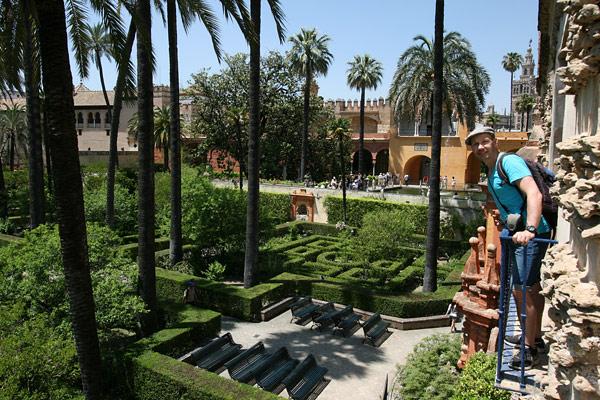 Seville Alcázar gardens