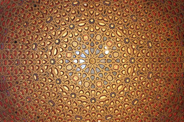 Ornate roof in Seville's Alcázar