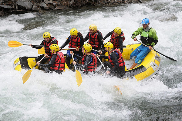 Rafting on Noguera Pallaresa