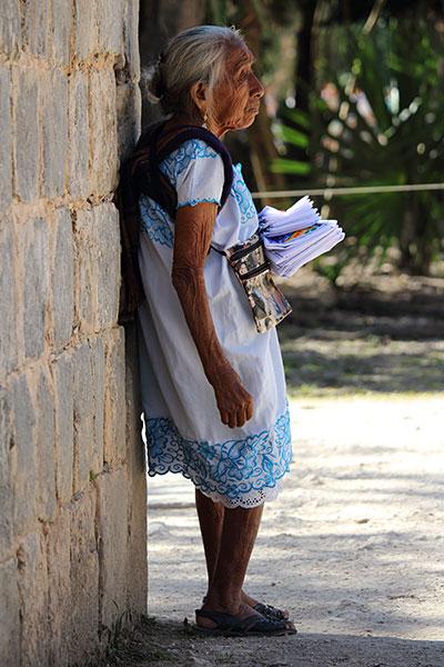 Woman in Chichen Itza