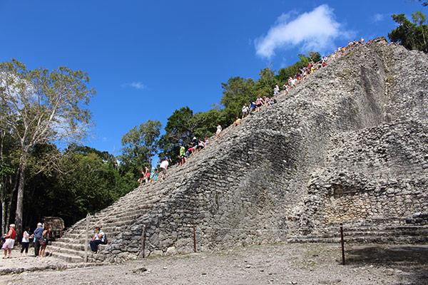 Climbing Coba's Ixmoja