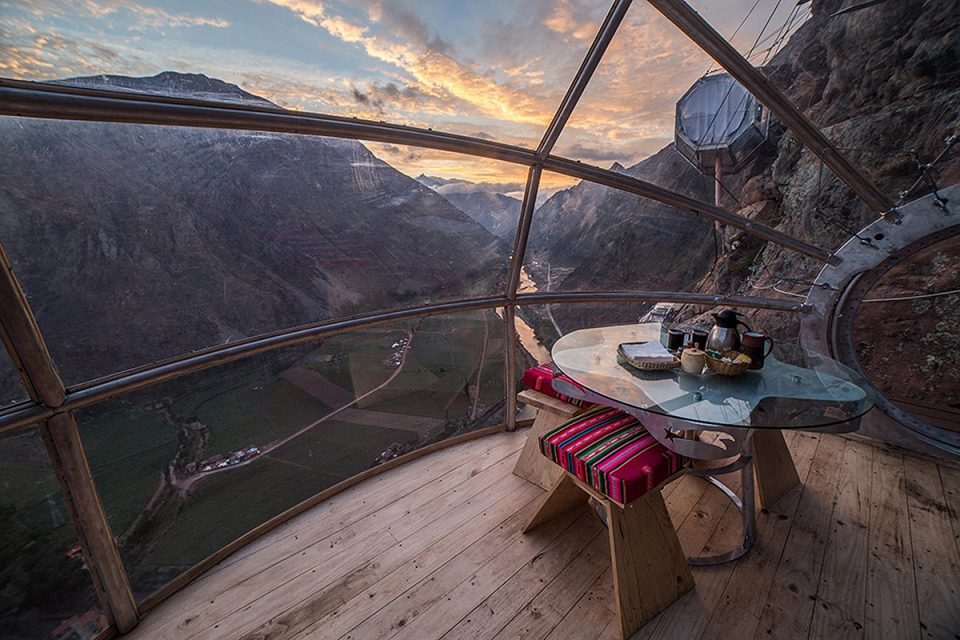 Skylodge Adventure Suites dining capsule