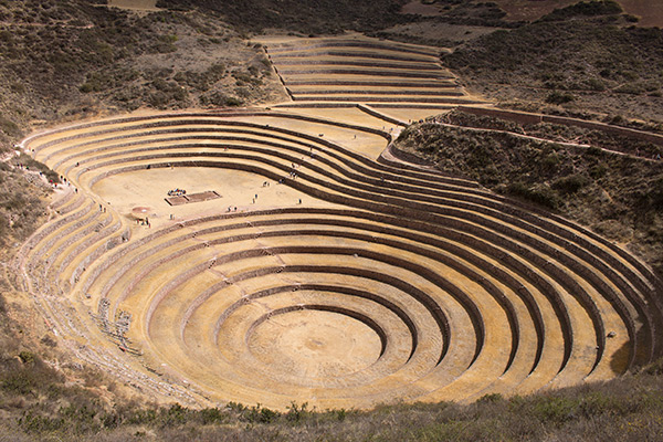 Concentric terraces of Moray