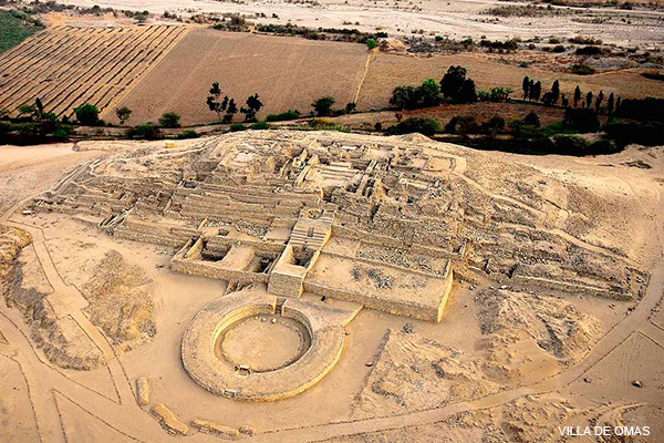 Aerial view of Caral