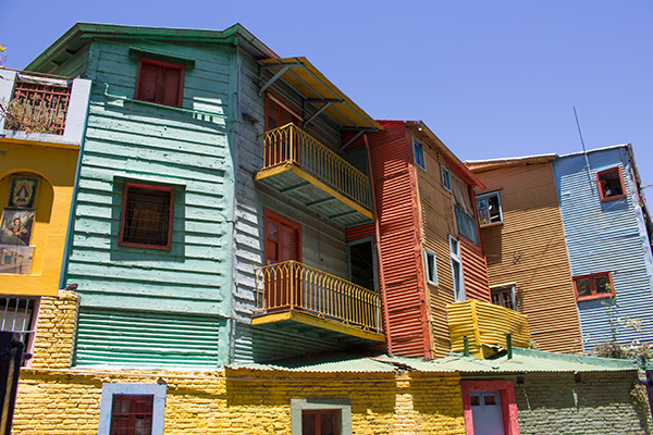 Colorful architecture in La Boca