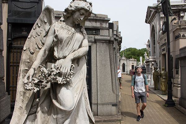 Thomas in Recoleta cemetery