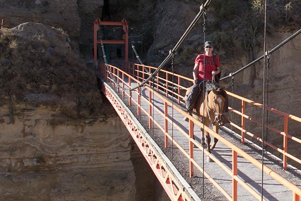 Riding in Colca Canyon