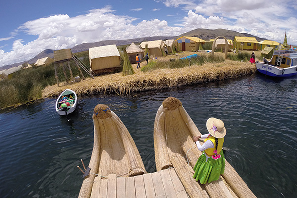 Traditional reed boats of Uros