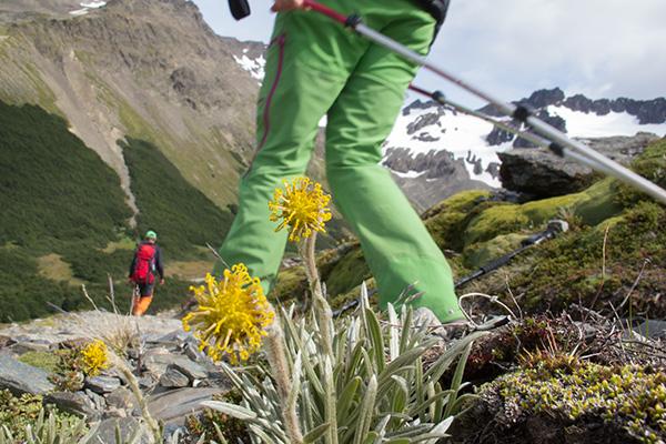 Hiking to Martial Glacier