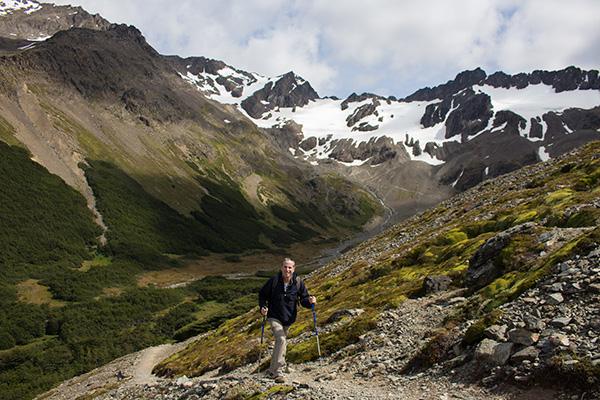 Hiking outside Ushuaia