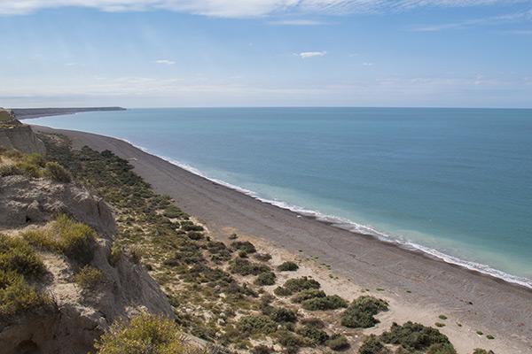 Coast at Punta Cantor, Península Valdés