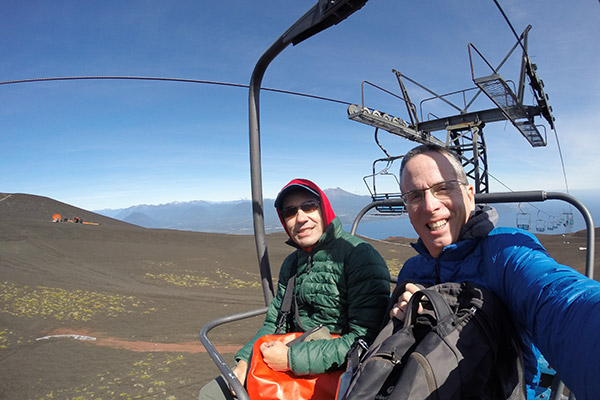 Chairlift up to Osorno Volcano