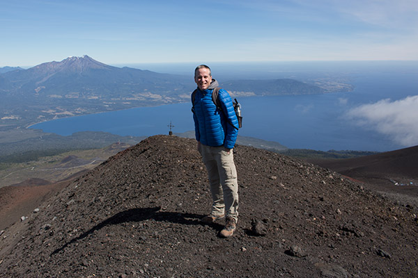 View from Osorno Volcano with Calbuco in the back