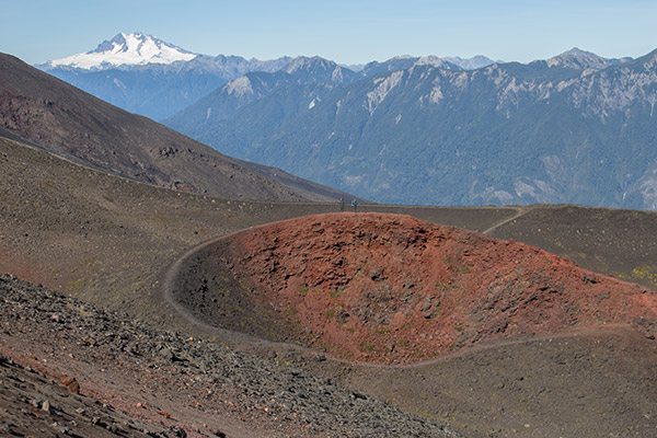 Crater on Osorno's slopes