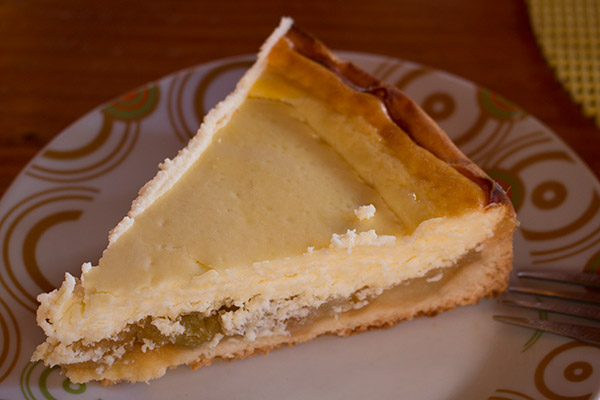 Cheese cake at Café Lahuel outside of Puerto Varas
