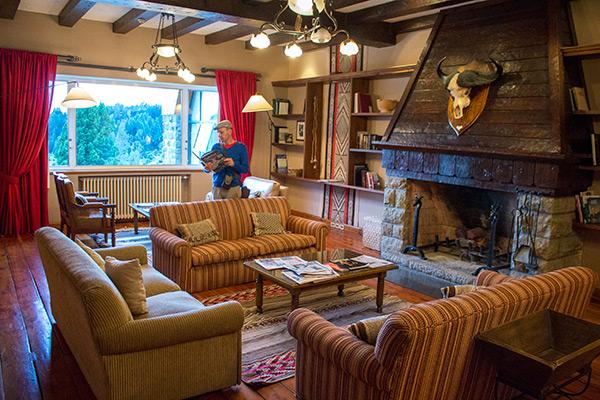 Reading room at the Llao Llao